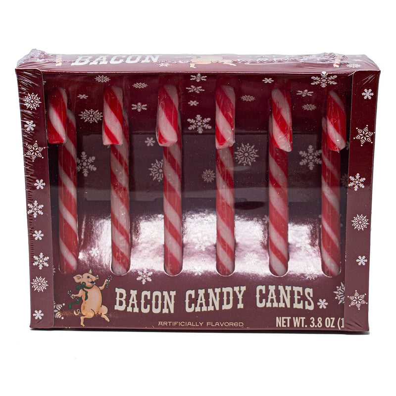 Box of 6 Bacon Candy Canes