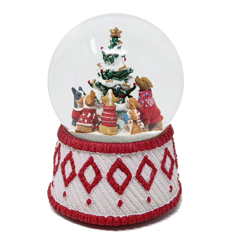Christmas Dogs in Jumpers Snow Globe