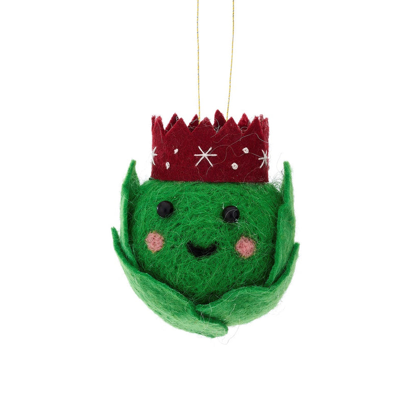 Smiley Felt Sprout Christmas Tree Ornament