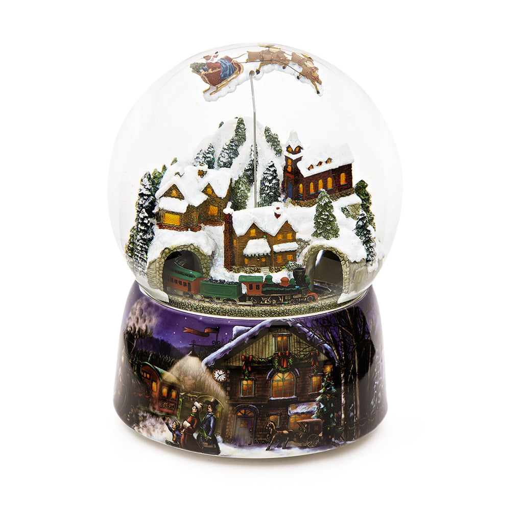 MEGA Christmas Snow Globe Snow Scene With Train and Sleigh (Moving & Musical)