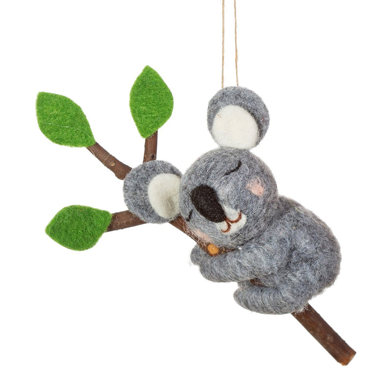 Felt Koala Christmas Tree Decoration