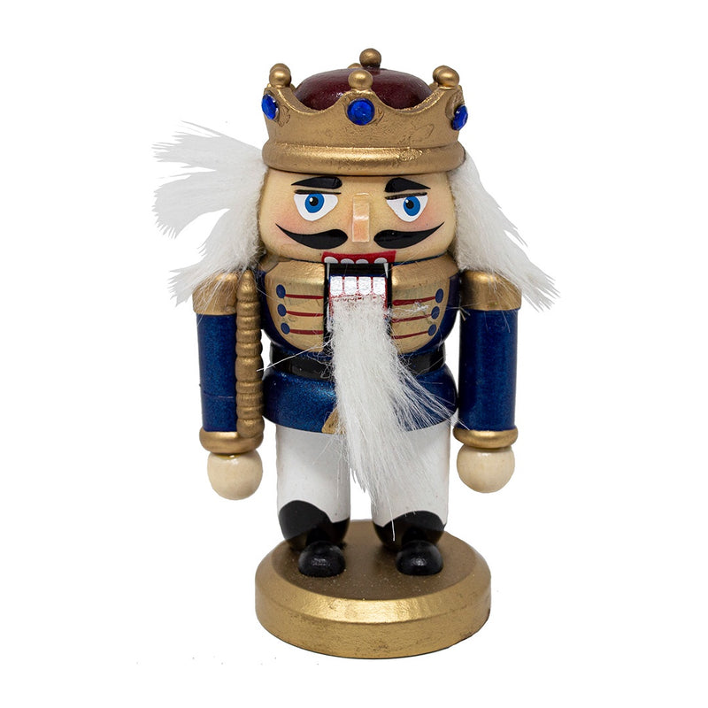 Blue Dumpy German Nutcracker 12cm
