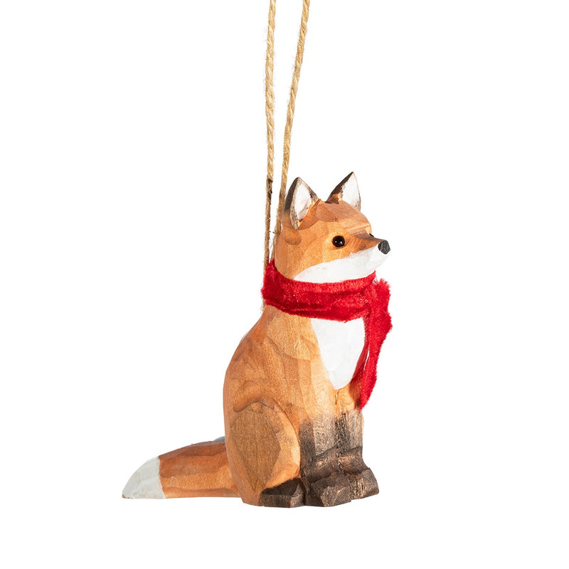 Wooden Fox Christmas Tree Decoration