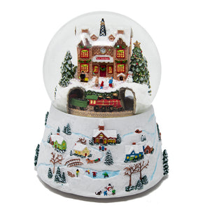 North Pole Train Depot Snow Globe