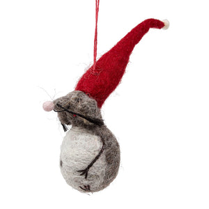 Felt Elf Mouse Christmas Tree Decoration
