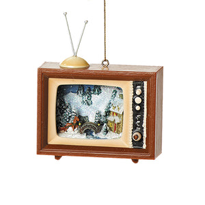 Miniature Television Christmas Tree Ornament (Choice of 4)