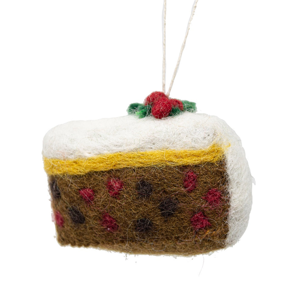 Felt Christmas Cake Tree Decoration