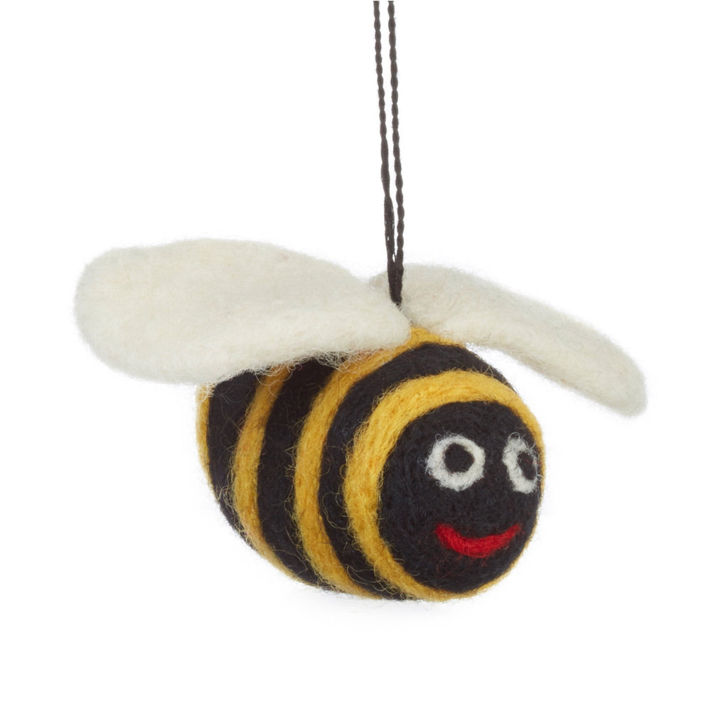 Felt Bumble Bee Christmas Tree Decoration
