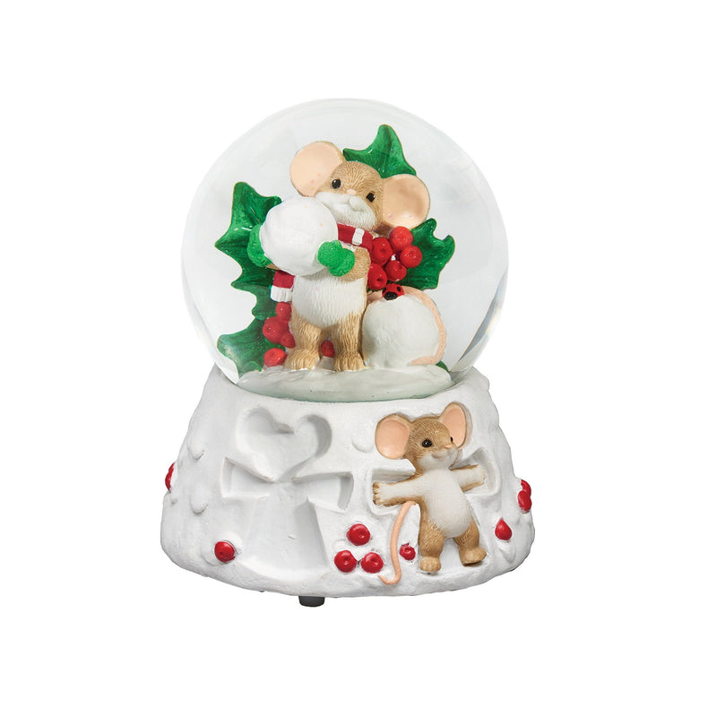 Charming Tails Mouse Snow Globe Snow Angels