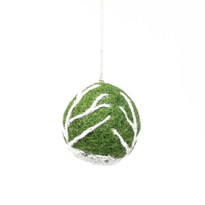 Handmade - Felt Brussels Sprout Christmas Tree Decoration