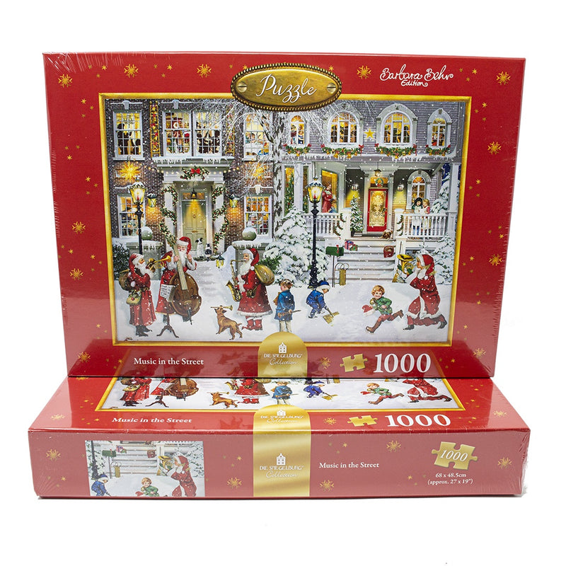 Music In The Street Christmas Jigsaw Puzzle
