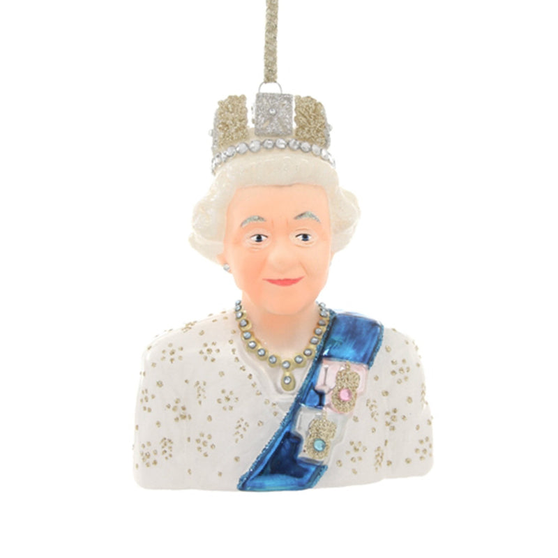 Queen Elizabeth II Glass Tree Decoration