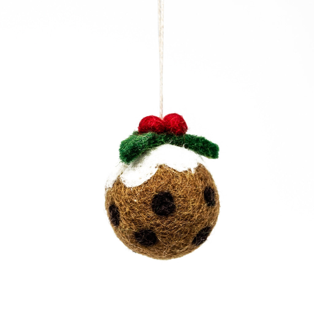 Mini Felt Christmas Pudding Tree Decoration