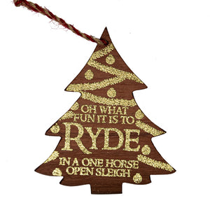 Ryde Pier Wood Christmas Tree Decoration