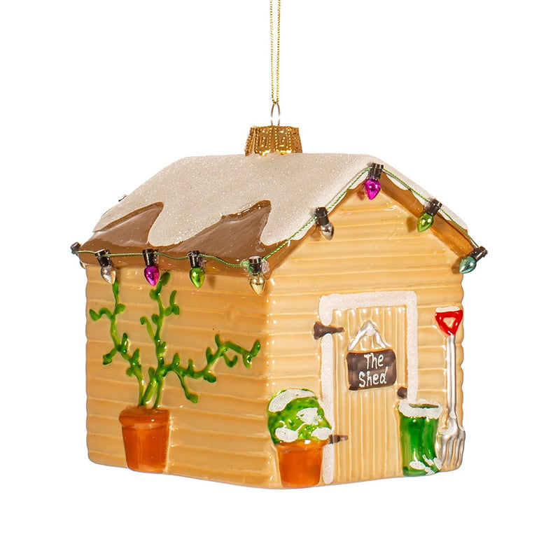 Glass Shed Christmas Tree Decoration
