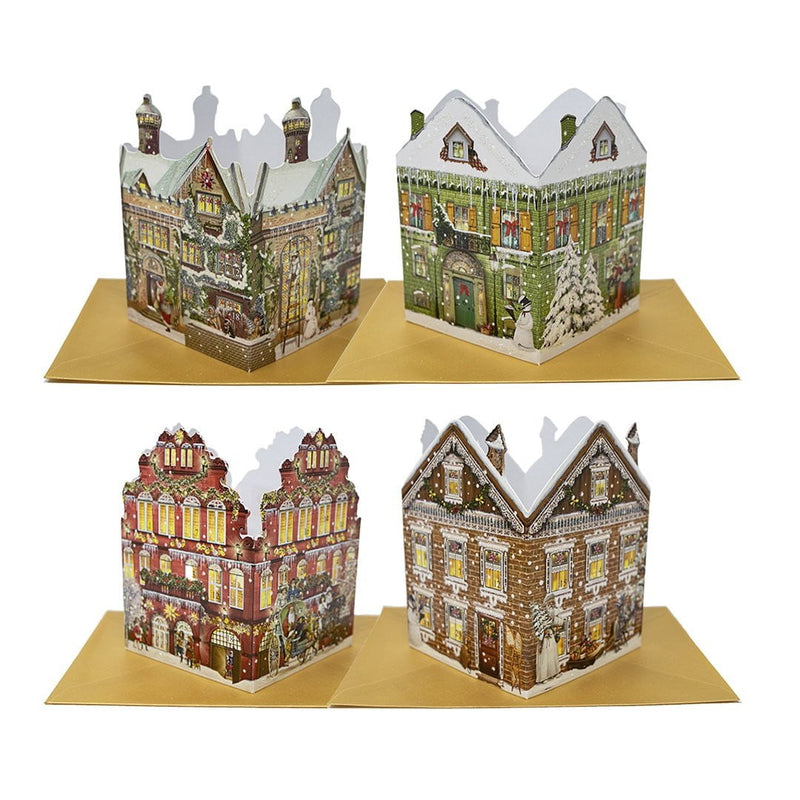 3D Standing Lantern Advent Christmas Cards (Can Be Illuminated)