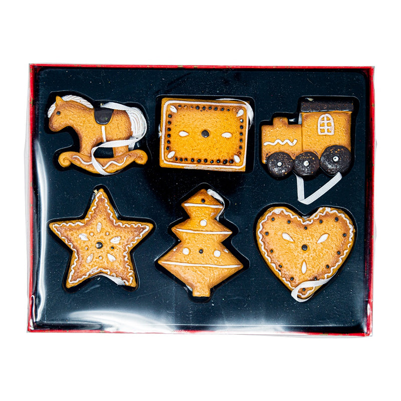 Set of 6 Gingerbread Decorations