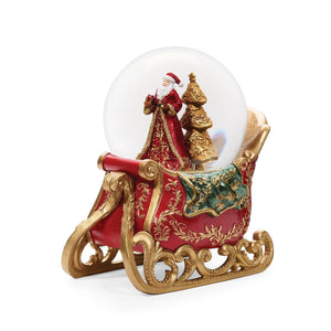 Santa On Sleigh Snow Globe