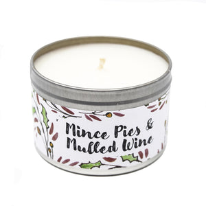 Mince Pie & Mulled Wine Soy Christmas Candle (Handmade)*