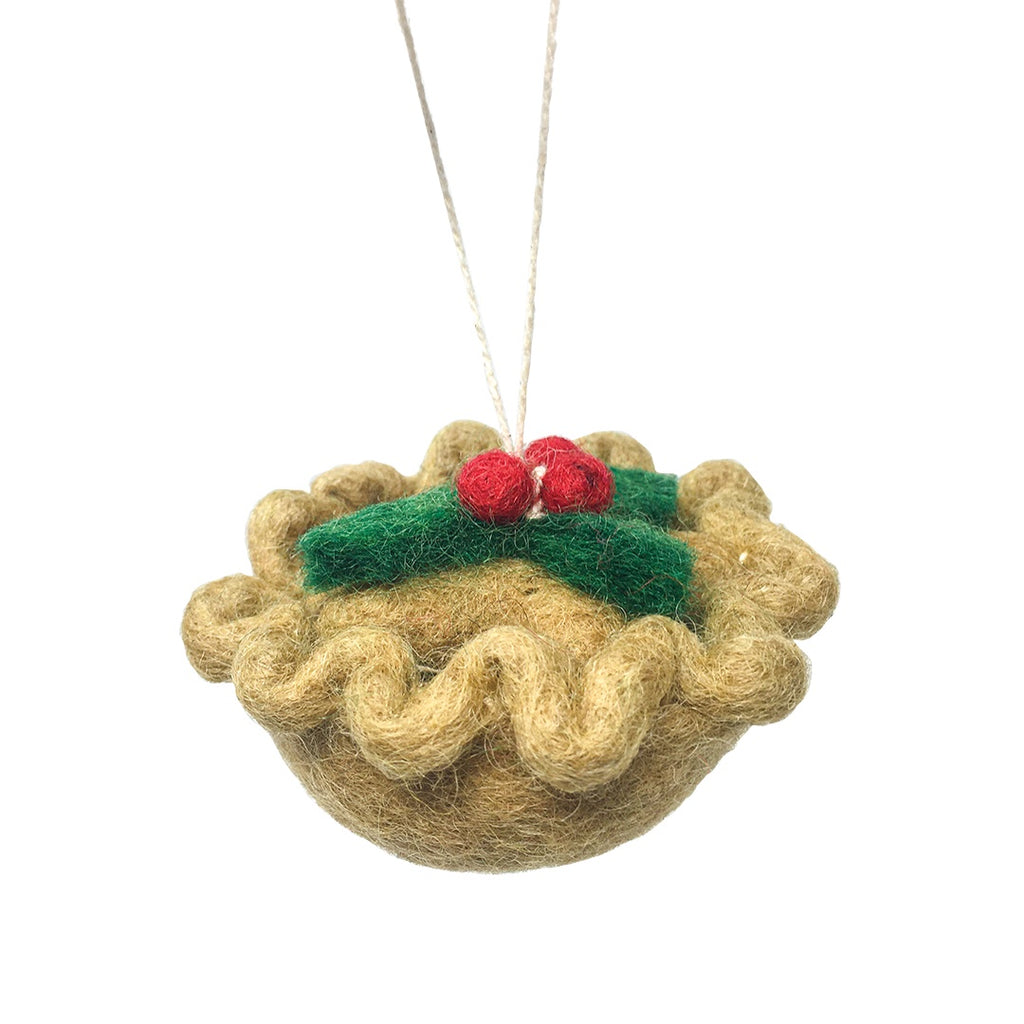 Felt Mince Pie Tree Decoration