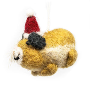 Handmade - Mini Felt Hamster Christmas Tree Decoration