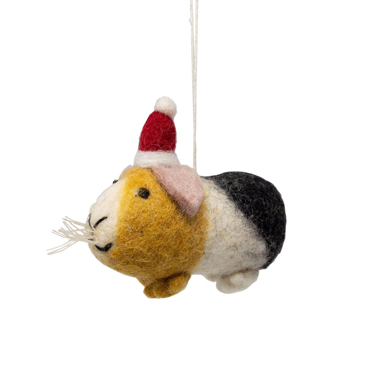 Handmade - Felt Guinea Pig Christmas Tree Decoration