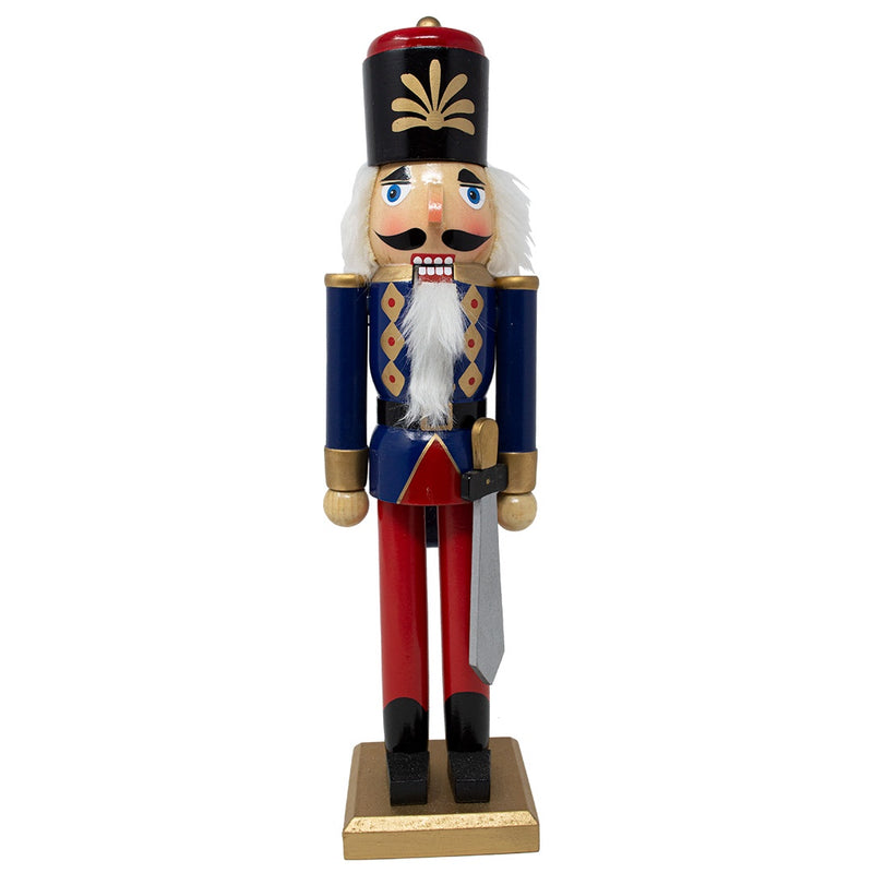 Large Blue Nutcracker with Sword 37cm