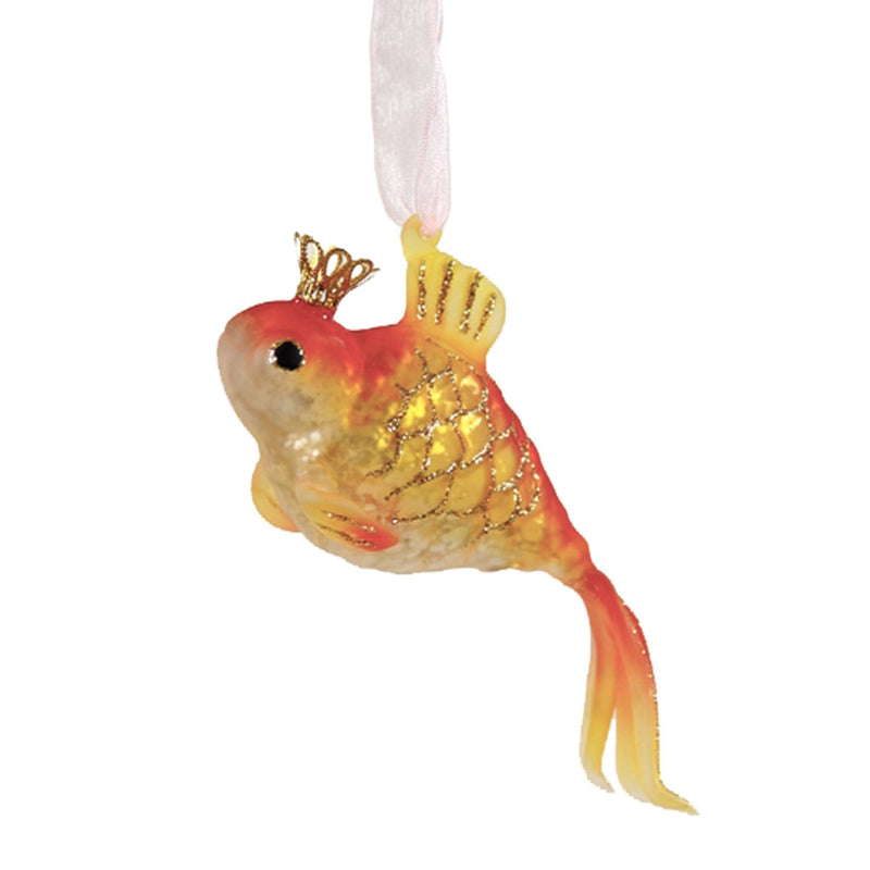 Glass Goldfish Christmas Tree Ornament