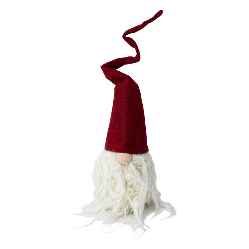 Tomte in Red Felt Crooked Hat 45cm