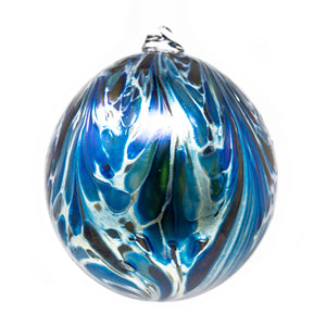 Isle of Wight Studio Glass - Northern Lights Blue Melchior Christmas Bauble