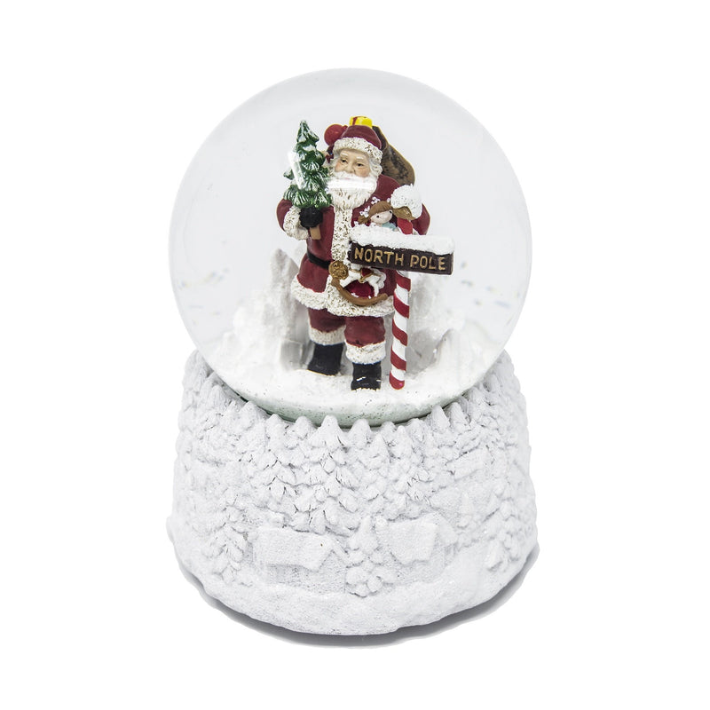 Santa At North Pole Snow Globe