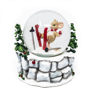 Charming Tails Mouse Light Up Snow Globe