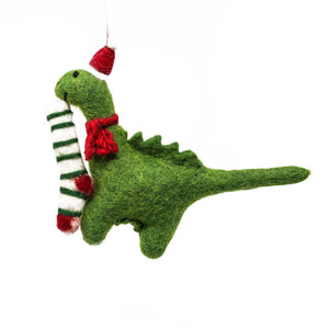 Felt Dinosaur Diplodocus Christmas Tree Decoration (14cm)