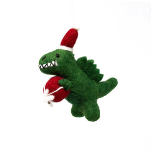 Felt T-Rex Dinosaur Christmas Tree Decoration
