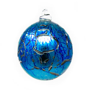 IOW Studio Glass Bauble Arctic Blue Melchior