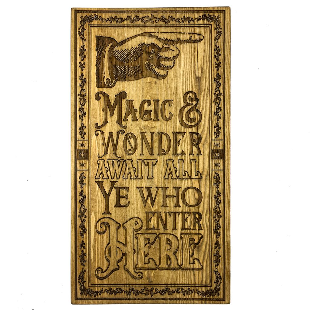 Magic and Wonder Elfmade Wooden Sign 53cm