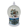Moving Light Up Swirl Dome Snow Globe With Santa