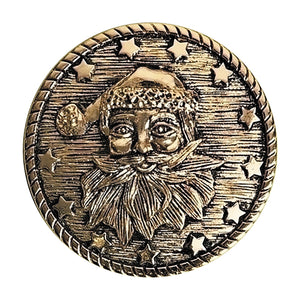 Santa Claus' Coat Button For Christmas Eve