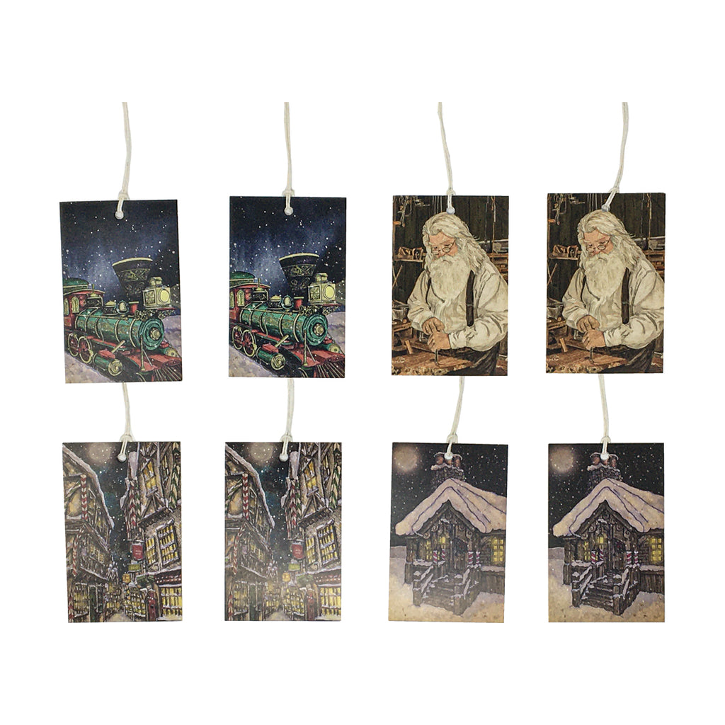 Santa's Village - Present From Santa Set of 8 Christmas Gift Tags