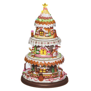 Rotating Gingerbread Tree Light Up / Musical / Moving