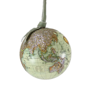 Glittered Globe Christmas Tree Decoration