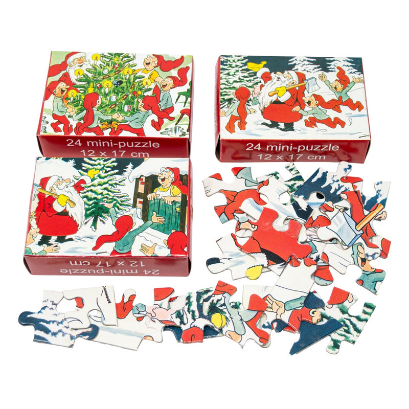 Set of 3 Christmas Elf Jigsaw Puzzle Stocking Fillers