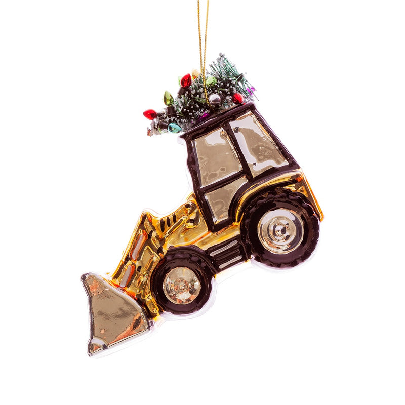 Festive Glass Digger Christmas Tree Decoration