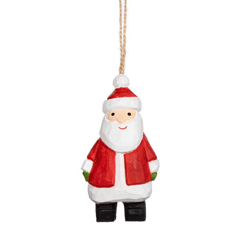 Wooden Santa Christmas Tree Decoration