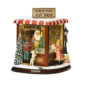 Luxury Santa's Toy Shop Light Up / Musical / Moving Christmas Decoration - LARGE