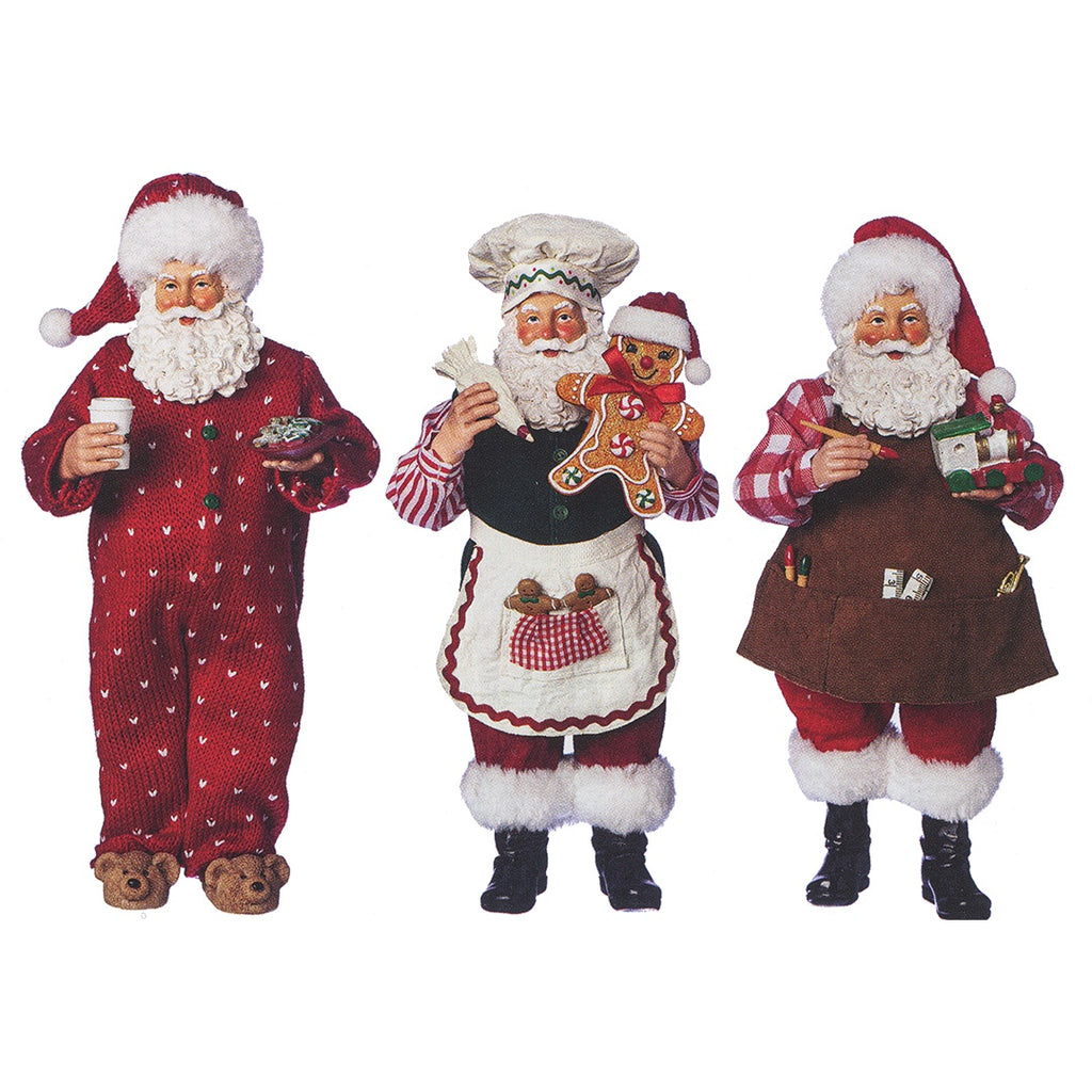 Choice of 3 Santa Figures - Baking, Workshop & Bedtime