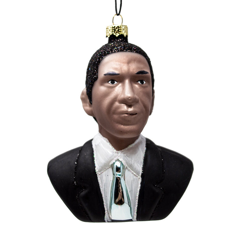 Barrack Obama Glass Christmas Tree Decoration