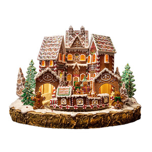 Magical Gingerbread Village with Train Musical & Moving
