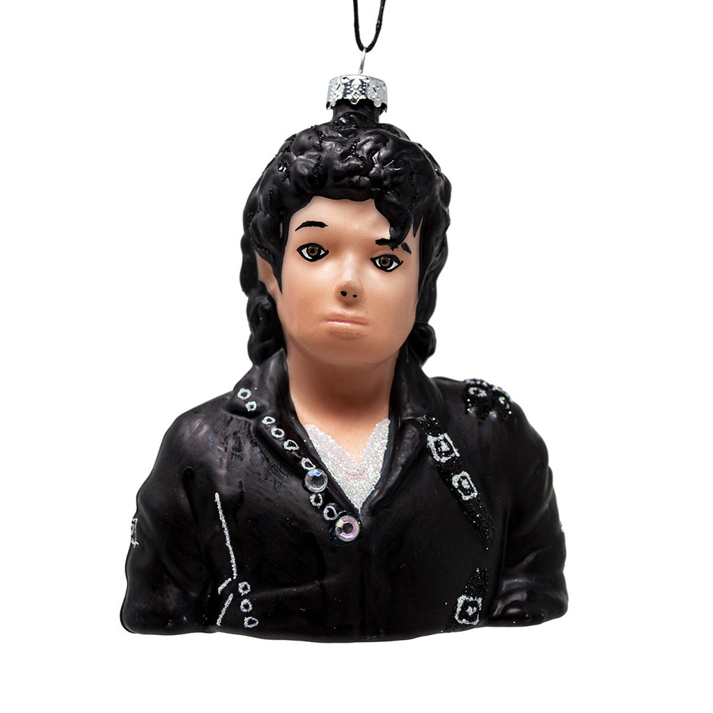 Michael Jackson Glass Christmas Tree Decoration