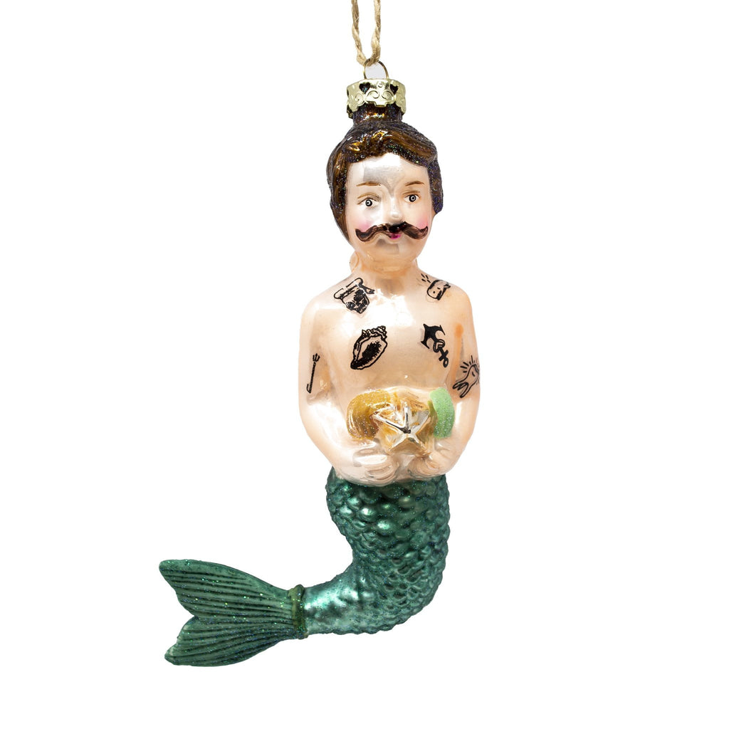 Glass Merman Christmas Tree Decoration